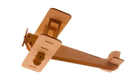 balsa: airplane isolated  Stock Photo