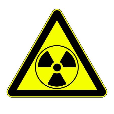 radiactividad: radiactividad signo Foto de archivo