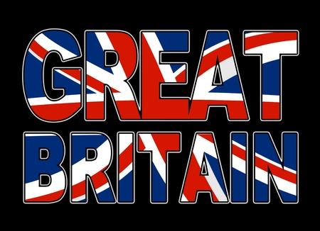 backround: great britain typo backround