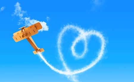 航空ショー: skywriter 急