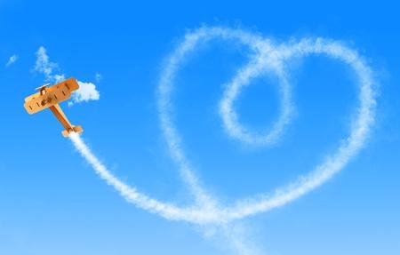 skywriter heart photo