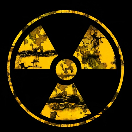 irradiated: nuclear logo sign Stock Photo