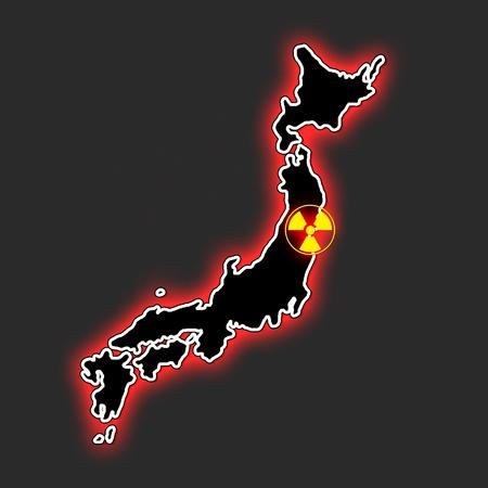 fukushima map grey Stock Photo - 10818087