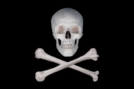 skull and crossbones: pirate poison Stock Photo