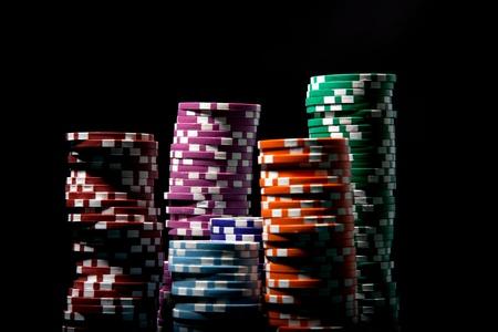 casino tokens: pokerchips black backround