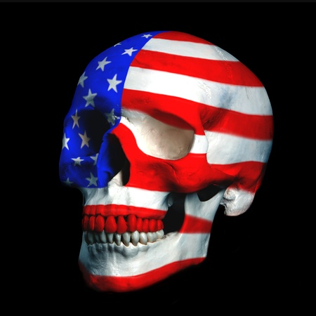 skeleton skull: usa´s wars Stock Photo