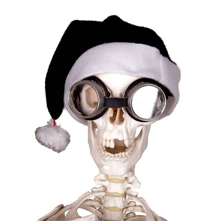 x mas party: macabre christmas greetings Stock Photo
