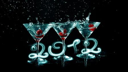 2012 happy new year Standard-Bild