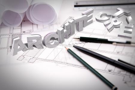 architecture 3d typo photo