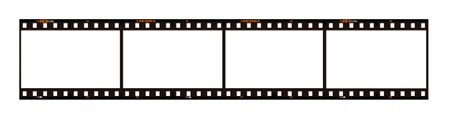 celluloid film: raw filmstrip for your pictures Stock Photo