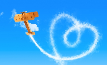 skywriter illustration for love related topics illustration