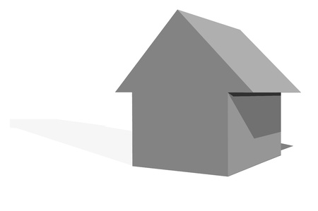 3d cgi icon of a house photo