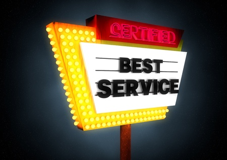 commercialization: Best Service sign