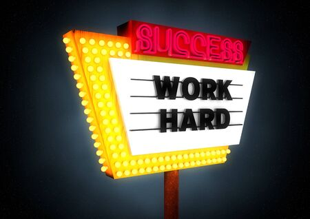 Hard work equals Success photo
