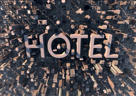 Hotel in the city - tourism background -  photo