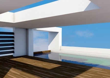 Modern Architecture with pool  photo