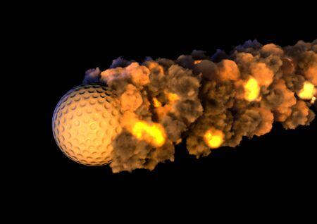 golf ball on fire photo