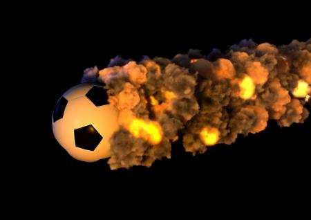 football on fire photo
