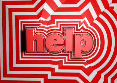 help abstract text background Stock Photo - 15034063