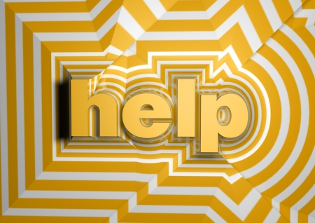 help abstract text background Stock Photo - 15036543
