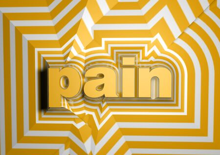 pain abstract text background