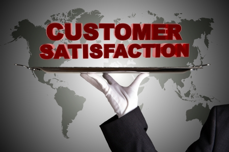 First Class Customer Satisfaction Stock Photo - 15025358