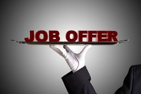 job promotion: First Class Job Offer  Stock Photo