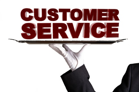 courteous: First Class Customer Service Stock Photo