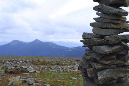 Picture taken at the summit of Mount Igrovets, Carpathians. photo