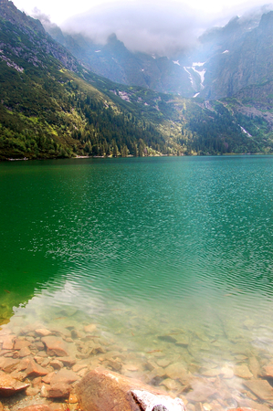 morskie: Beautiful clear water in a mountain lake