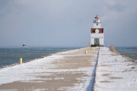 Lighthouse at end of pier