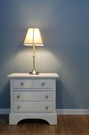 Nightstand and Lamp photo