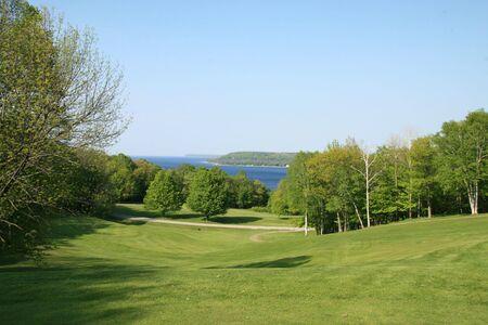 ゴルフ場からの偉大な湖