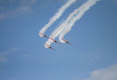 Team flyby Banco de Imagens