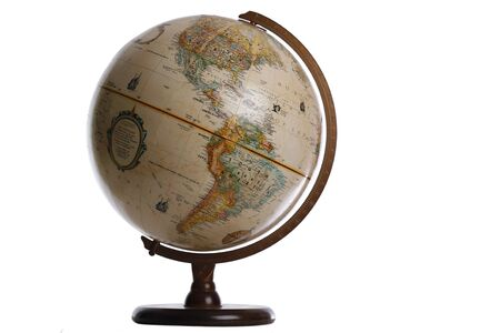 Globe with wooden stand Banco de Imagens