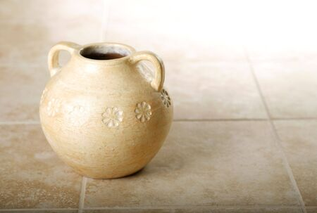 Pottery on tile