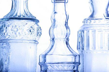 Abstract bottles in blue Banco de Imagens