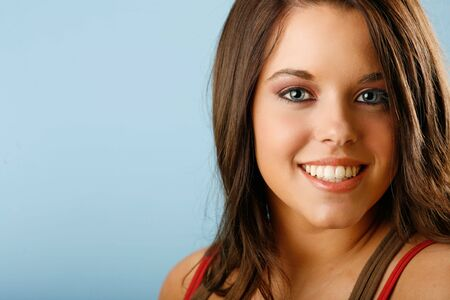 Beautiful brunette with gorgeous smile