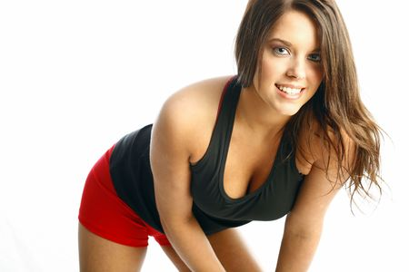 Teen fitness model Stock Photo - 4881460