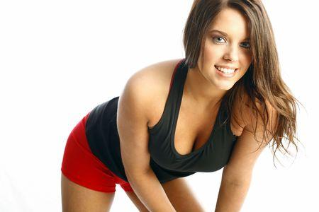Teen fitness model Stock Photo