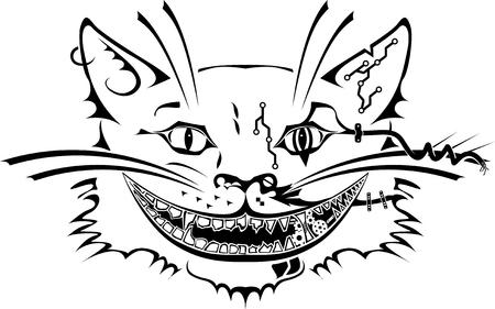 cheshire cat: Illustration of Cheshire cat