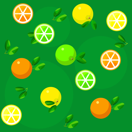 citrus fruits: Seamless pattern background with citrus fruits