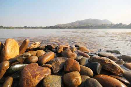 khong river: Kaeng Kud Ku. Khong river. Chiang Khan, Loei, Thailand
