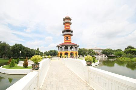 bang pa in: Bang pa in palace, Ayutthaya Thailand Stock Photo