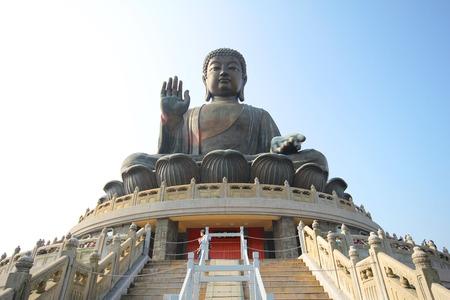 Tian Tan Buddha Statue, Polin Kloster Standard-Bild