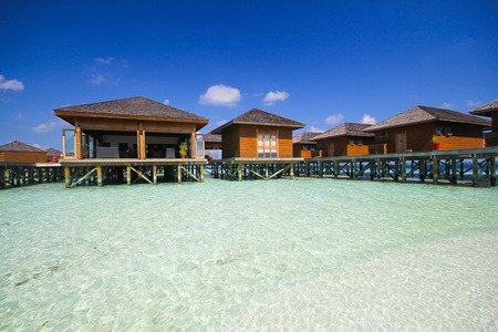 vilamendhoo: View of vilamendhoo island at the water bungalows side in the Indian Ocean Maldives