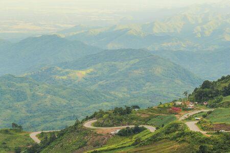 view to outside: Mountain road at Phu thap boek, Phetchabun Province, Thailand Editorial