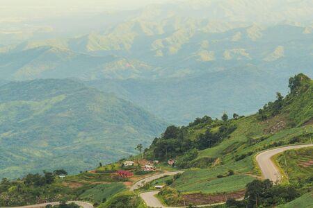 tourist attraction: Mountain road at Phu thap boek, Phetchabun Province, Thailand Stock Photo