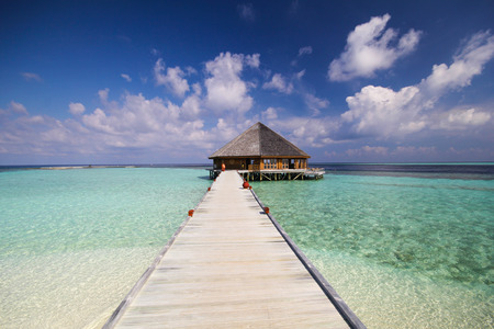 tropical island: View of vilamendhoo island in the Indian Ocean Maldives