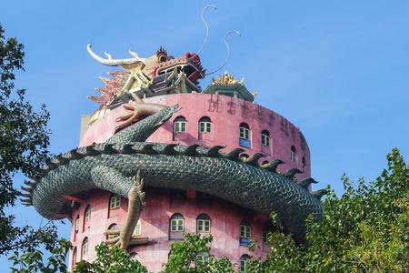 Giant Dragon Temple at Wat Samphran, Nakhon Pathom, Thailand